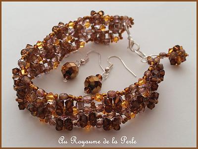 Bracelet Ode à la Vie marron 2