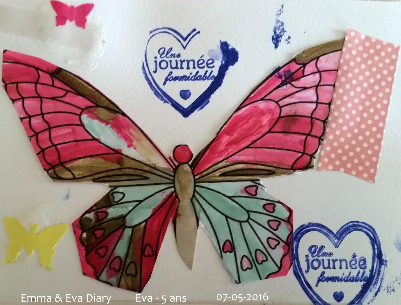 Papillon à l'aquarelle - 5 ans - 07-05-2016 Ba