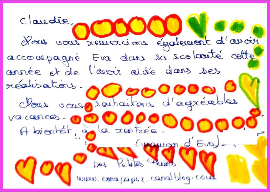 Cartes maitresse Claudie 2
