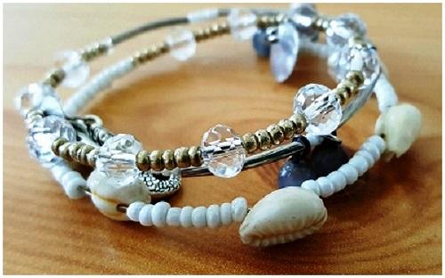 Bracelet Bijou Delf blanc