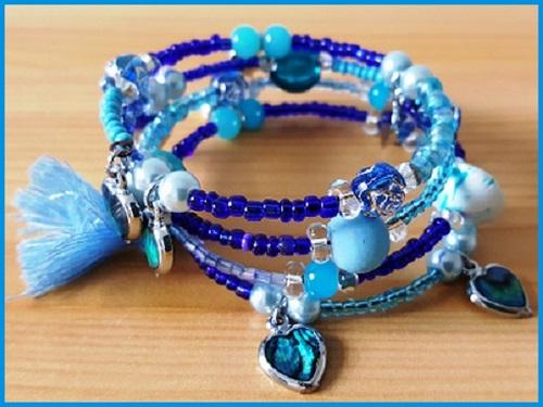 Bracelet Bijou Delf bleu petite fille