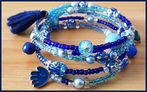 Bracelet Bijou Delf bleub