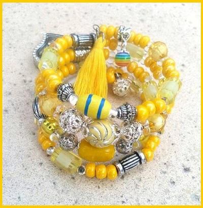 Bracelet Bijou Delf jaune
