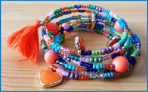 Bracelet multicouleur à tendance bleu