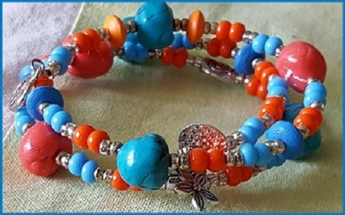 Bracelets Bijou Delf bleu-orange