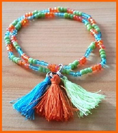 Bracelets Bijou Delf petite fille oragne, bleu verta