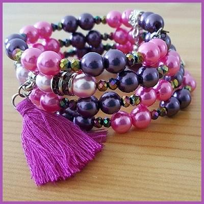Bracelets Bijou Delf rose-violet