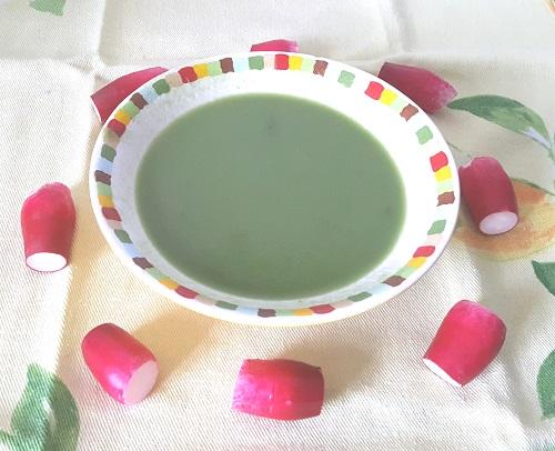 Soupe fanes de radis