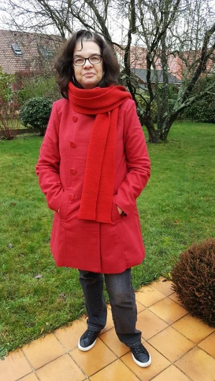 Manteau rouge Bleu Bonheur