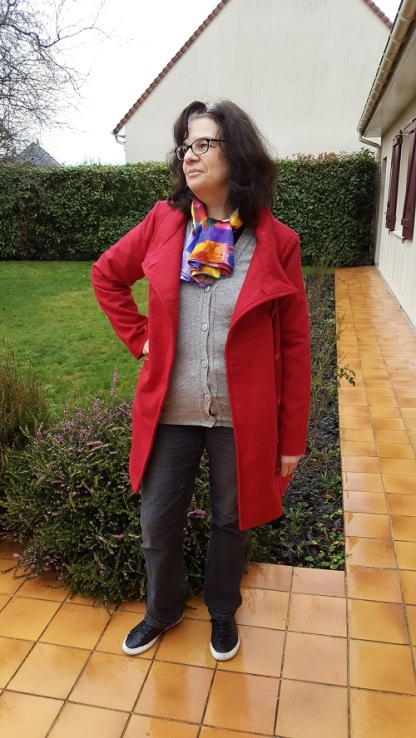 Manteau rouge Bleu Bonheur1